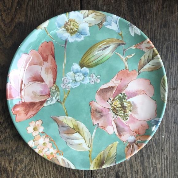 BH&G melamine Annabelle flower salad plates